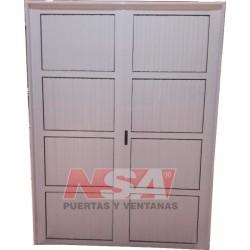 Puerta Doble De Aluminio Ciega 150X200