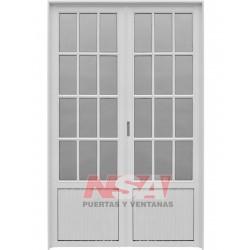 Puerta Doble Aluminio 3/4...